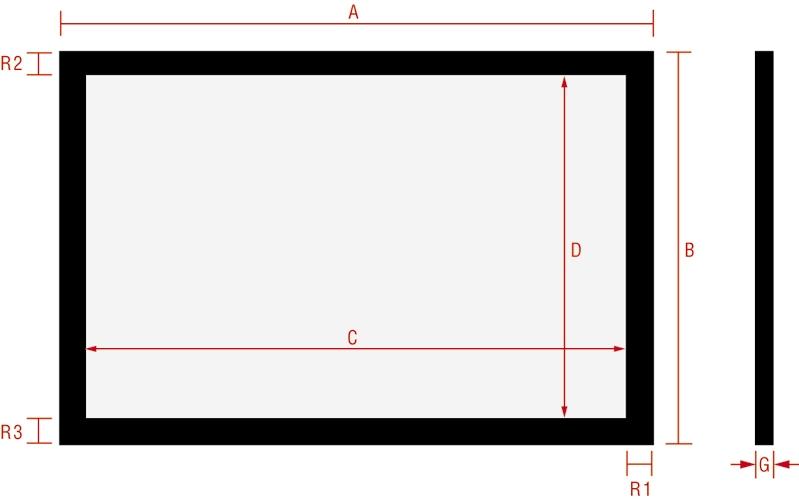 чертеж фиксированной рамки