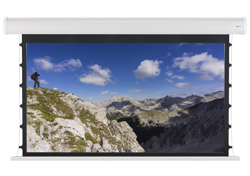 Проекционный экран с натяжением белый