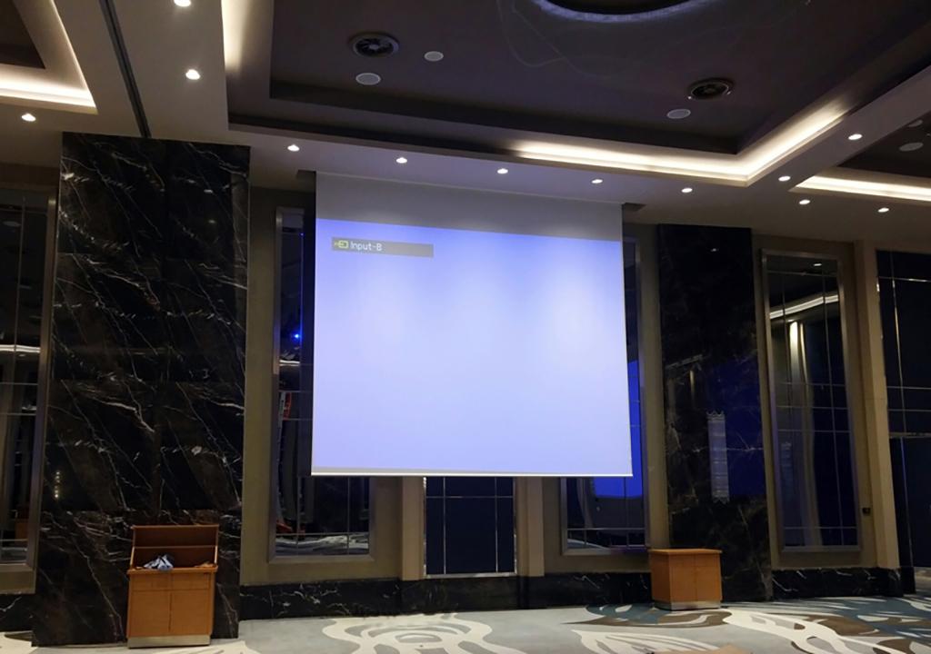 Проекционный экран Large в холле